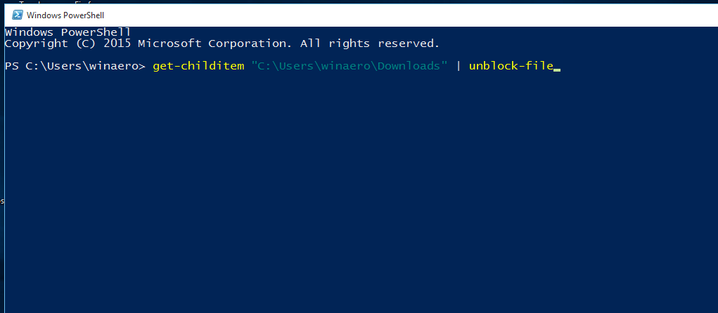 unblock files from command line