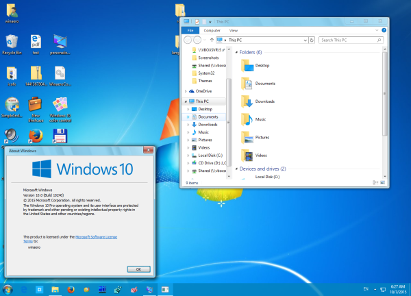 Windows 7 theme aero