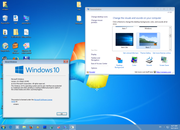 Windows 7 theme basic
