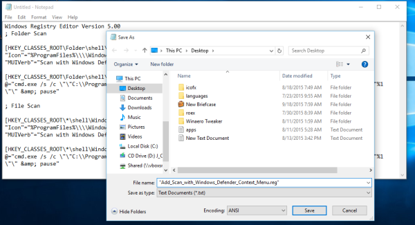 windows 10 add scan with defender