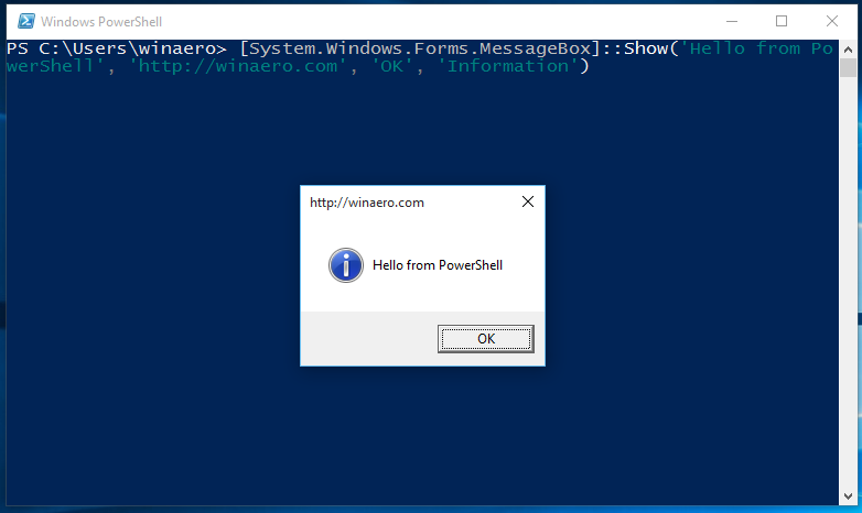 All ways to open PowerShell in Windows 10