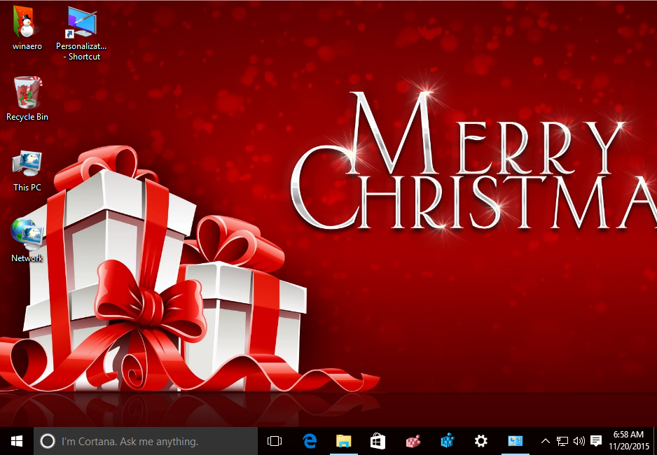 christmas 2015 theme windows 10 1