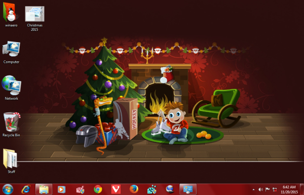 Christmas 2015 theme Windows 7 -1