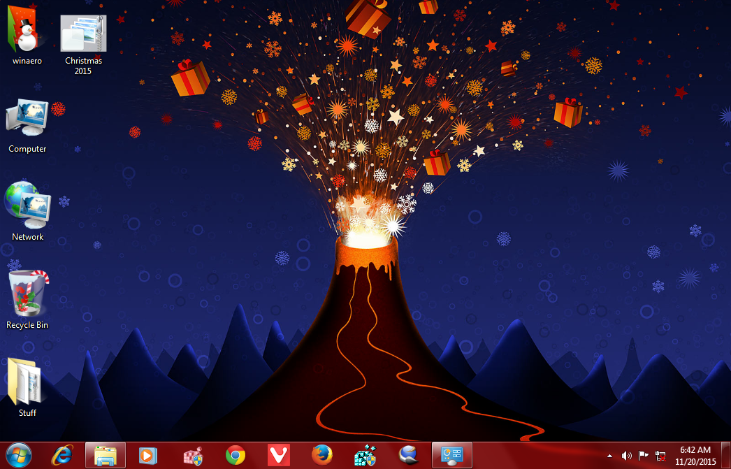 christmas 2015 theme windows 7