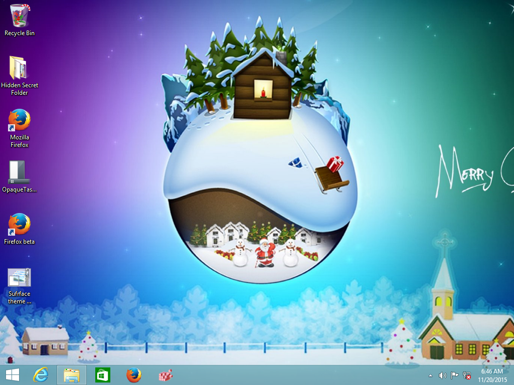 christmas 2015 theme for windows 10, windows 7 and windows 8