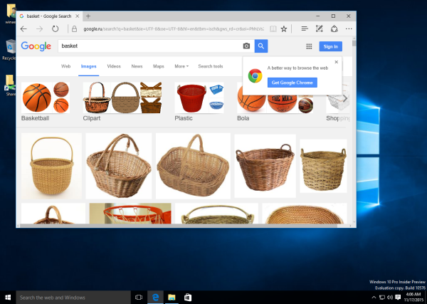 Classic Shell search with google images in action 2