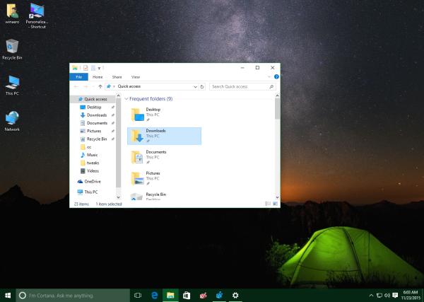Windows 10 10586 colored taskbar white titlebars in action 2
