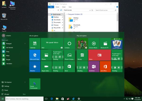 Windows 10 10586 colored taskbar white titlebars in action
