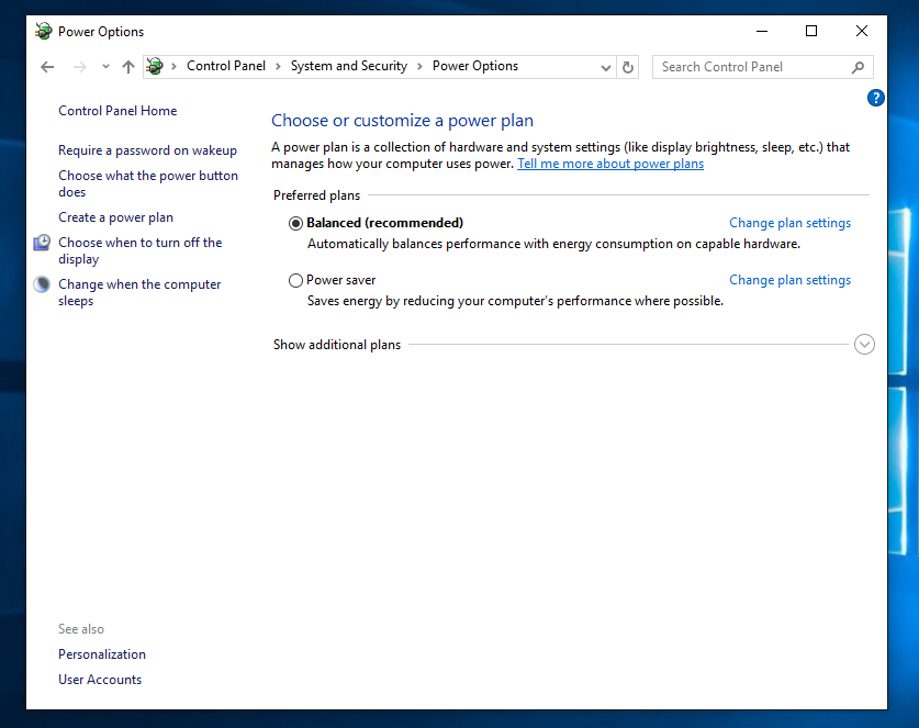 How to disable or enable Fast Startup in Windows 10