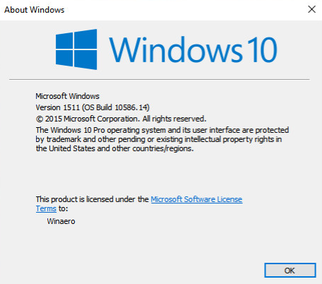 Windows 10 build 10586 14