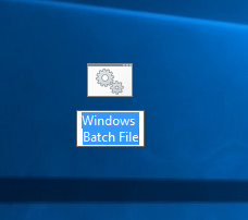 Windows 10 new-windows batch file created