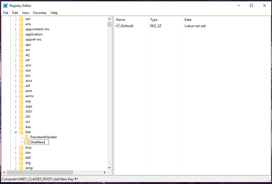 Windows 10 Shell New For Bat File