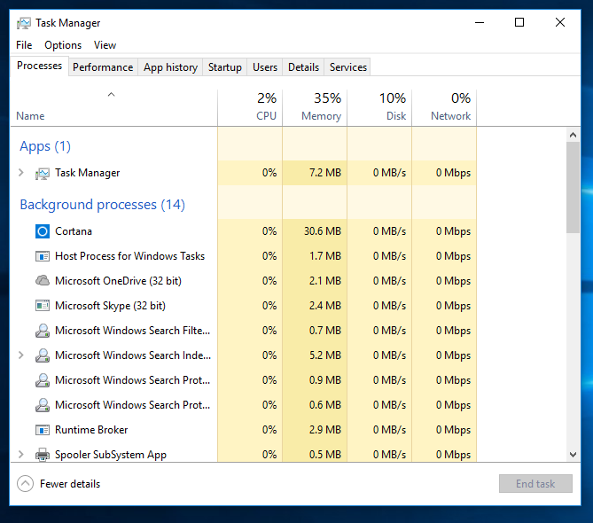 All ways to open task manager in Windows 10