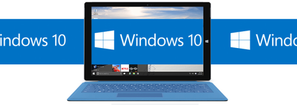 Windows 10 update logo banner