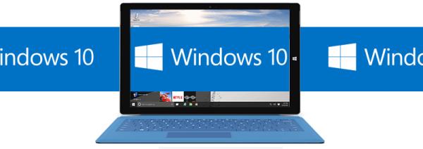 Windows 10 update logo banner