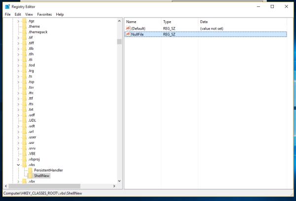 Windows 10 vbs nullfile