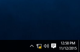 Windows 10 yellow overlay icon enabled