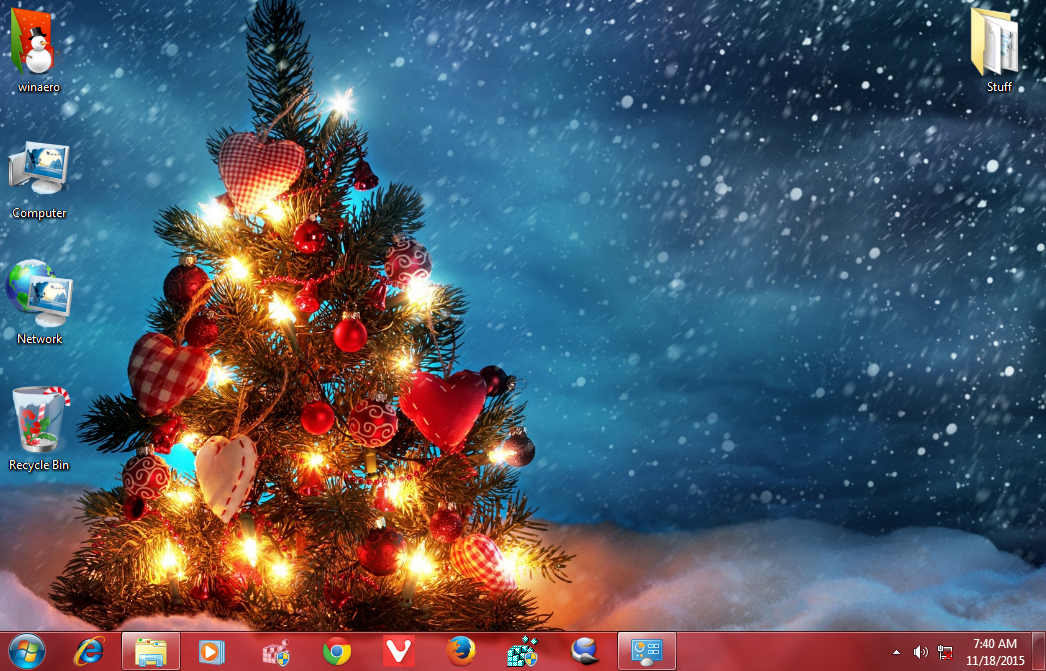 new year 2016 theme windows 7 2