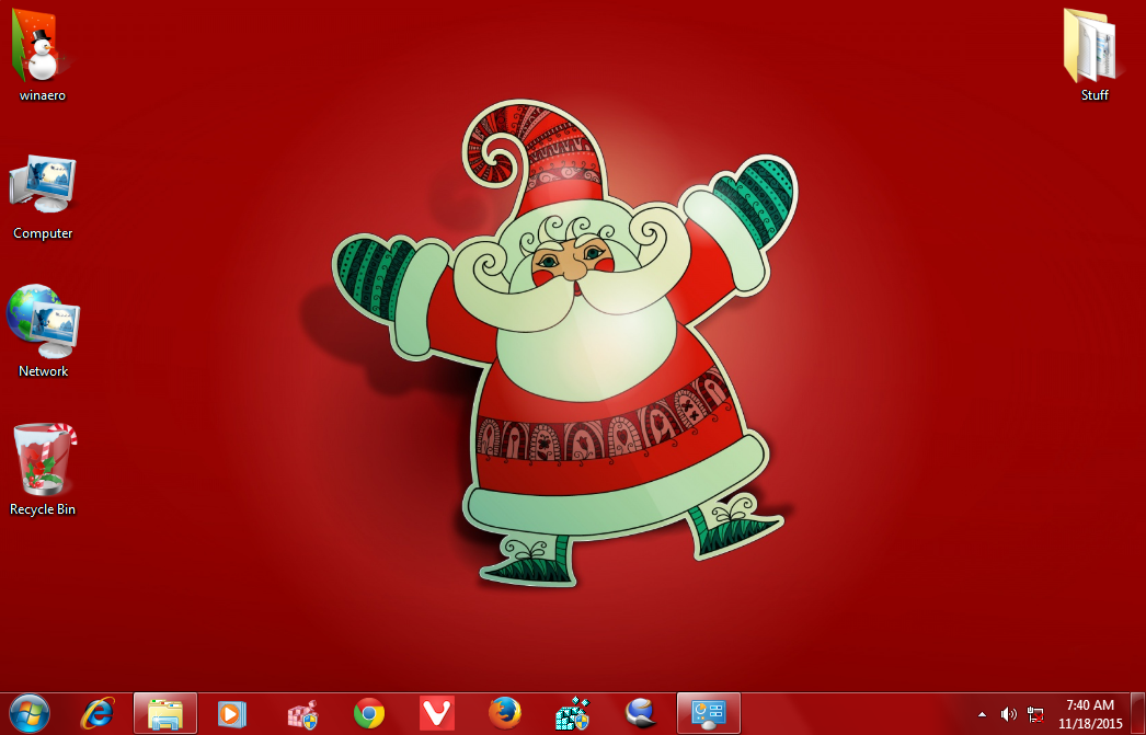 new year 2016 theme windows 7