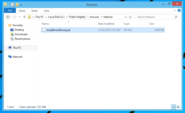 Firefox remove Hello system add-on