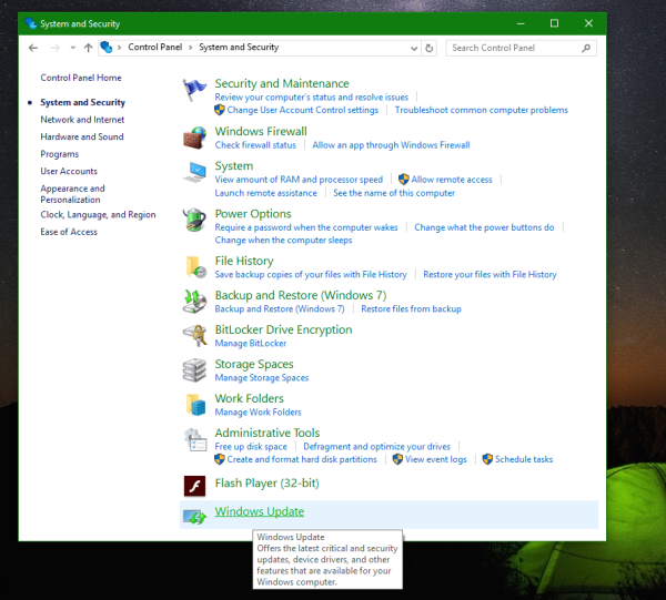 windows 10 panel bild