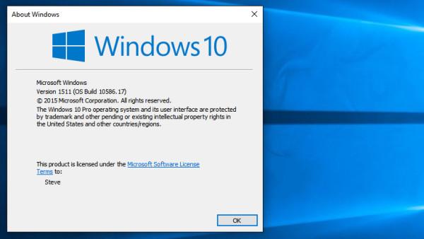 Windows 10 build 10586 17