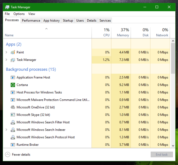 Windows 10 task manager pro mode