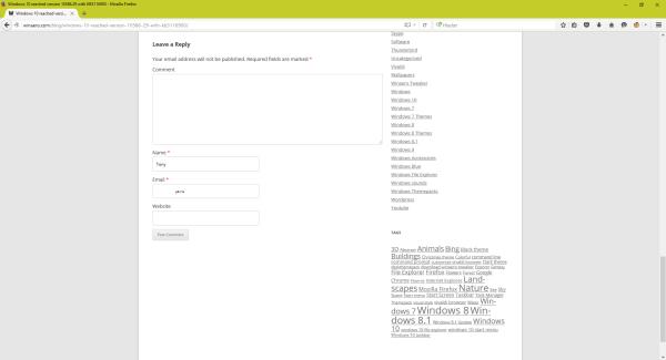 Wordpress 4.4 comments form default