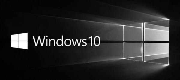 windows 10 logo banner bw