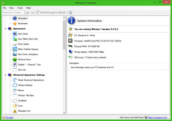 Winaero Tweaker 0.4.0.2