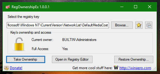 Windows 10 change registry permissions