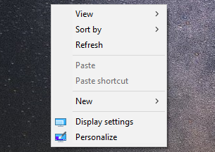 Windows 10 context menus after