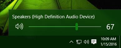 Windows 10 default mixer