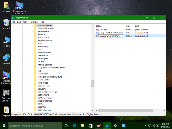 Windows 10 disable wide context menus