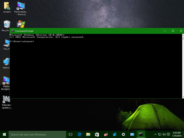 Windows 10 open command prompt