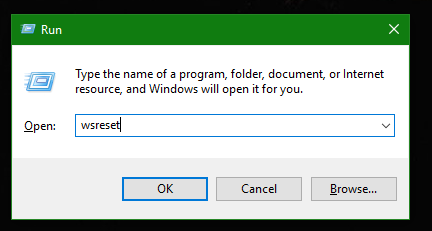 Windows 10 reset store cache