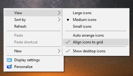 windows 10 change icon spacing on desktop