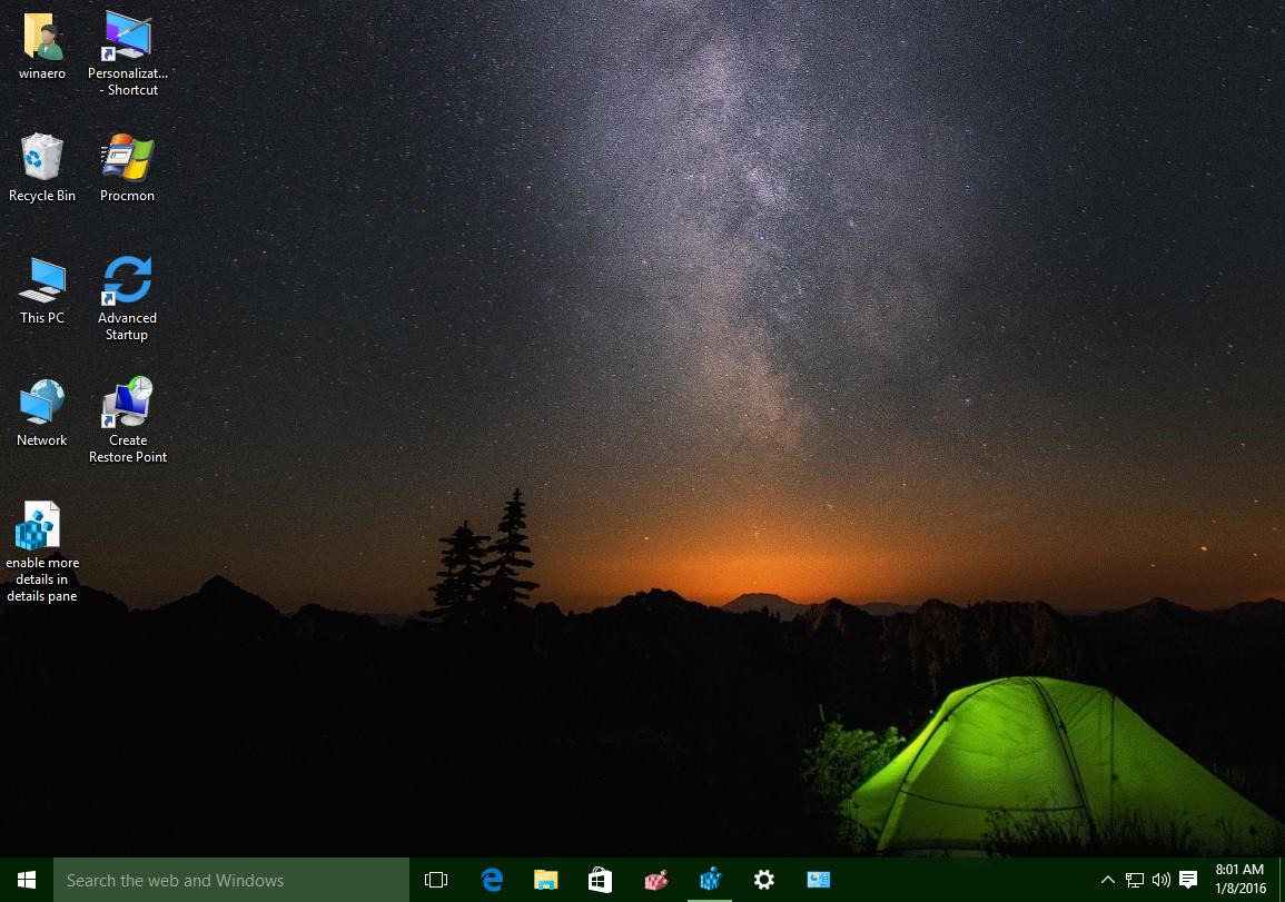 Change Desktop icon spacing in Windows 10 and Windows 8 / 8 1
