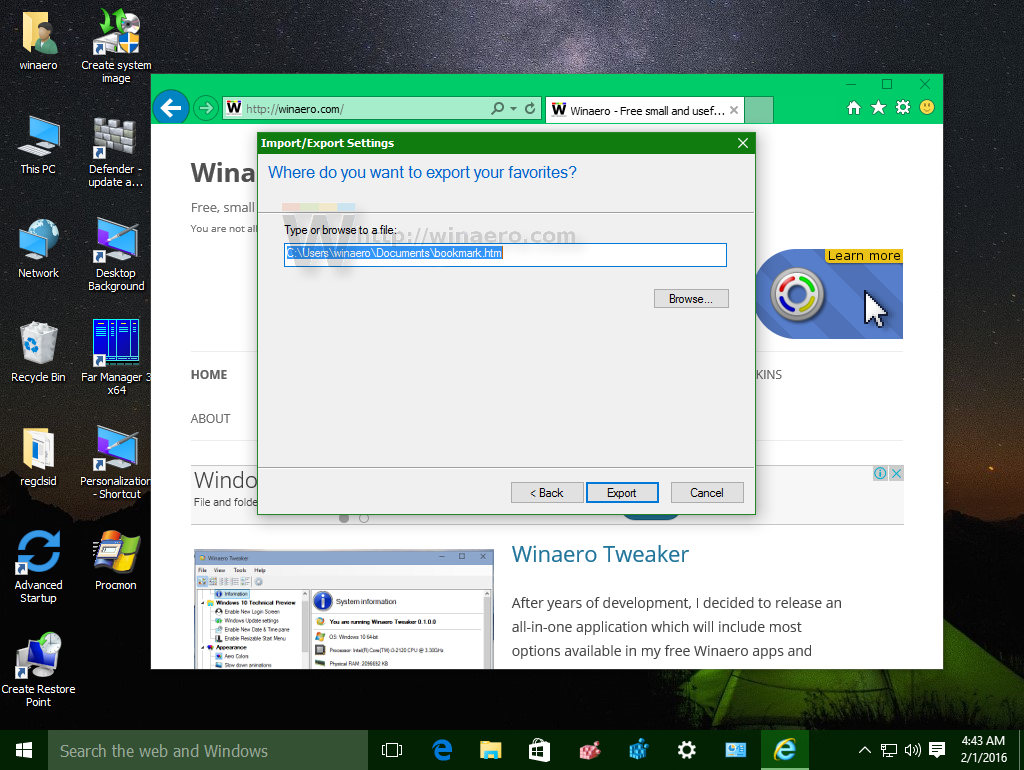 how to delete bookmarks in windows 10