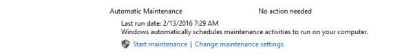 Windows 10 automatic maintaince logo