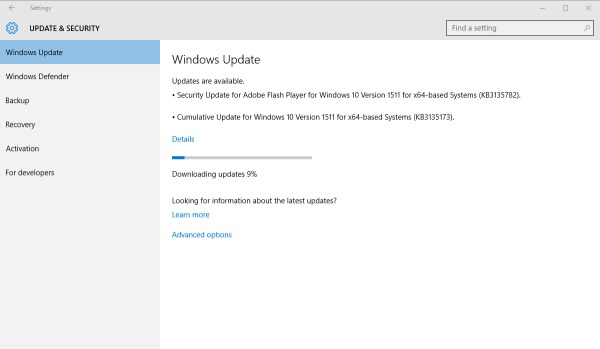 Windows 10 build 10568.104
