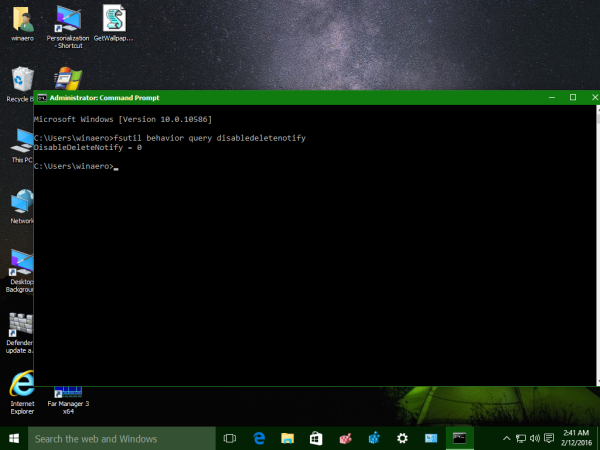 Windows 10 check TRIM status