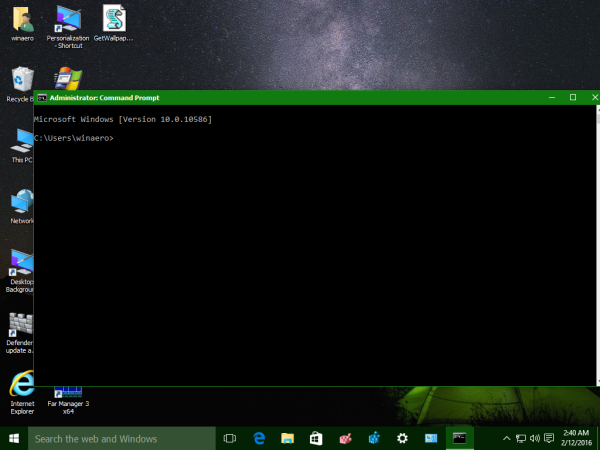 elevated command prompt on windows 10