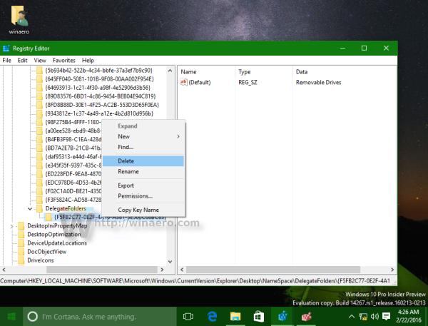 Windows 10 fix drives appear twice delete subkey