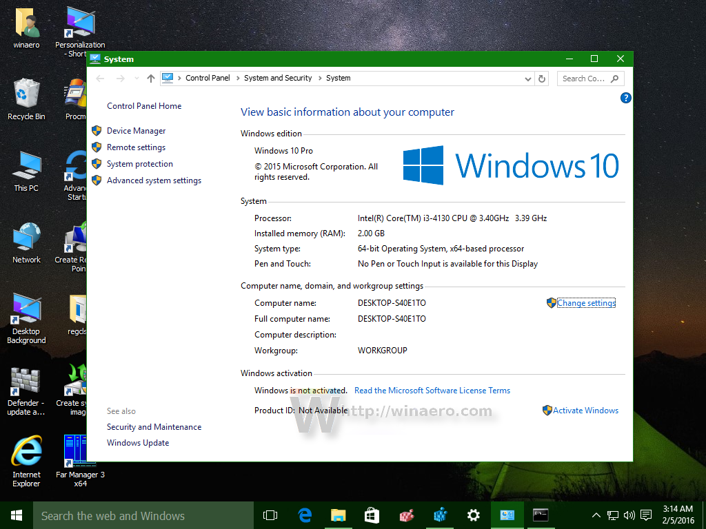 forced gvlk installation windows 10 home