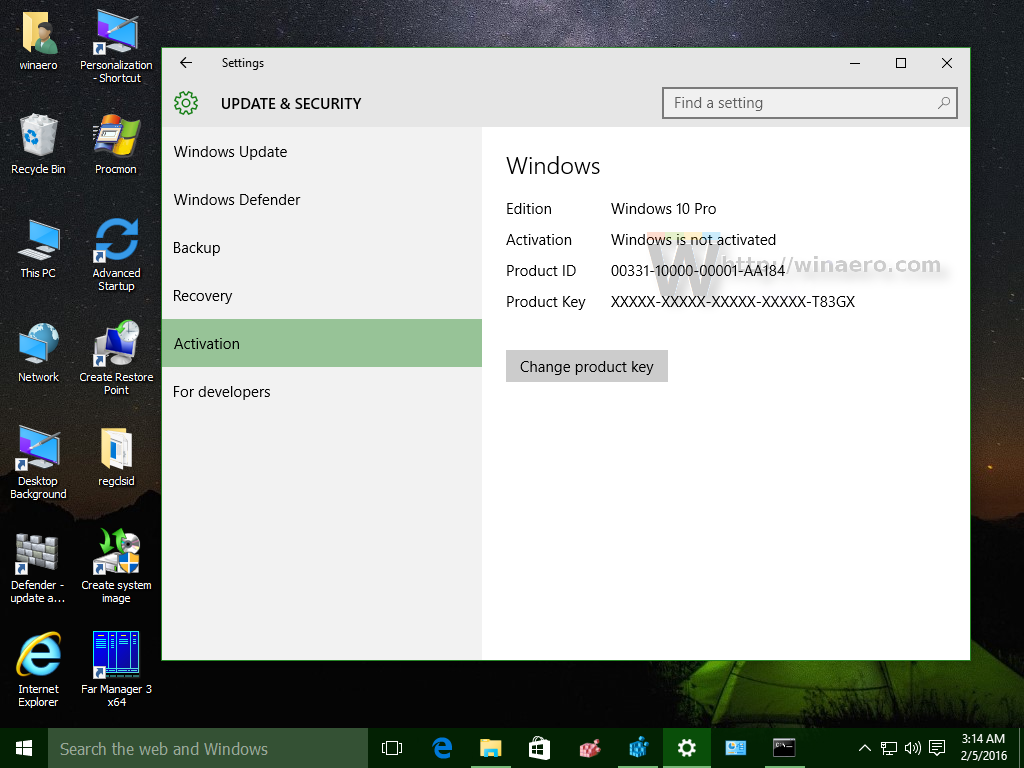 How to deactivate Windows 10 and change the product key
