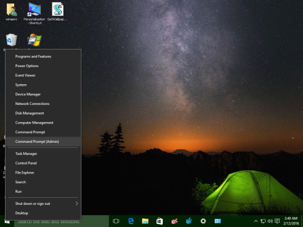 Windows 10 open command prompt