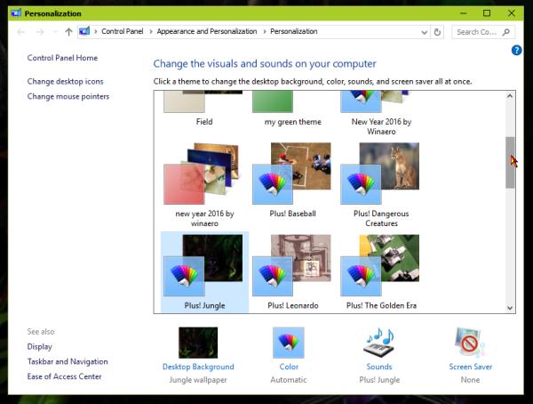 Windows 10 personalization themes