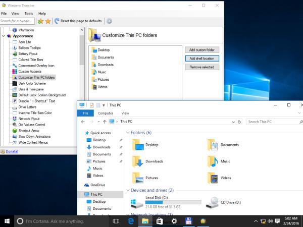 Windows 10 reset this pc folders 2