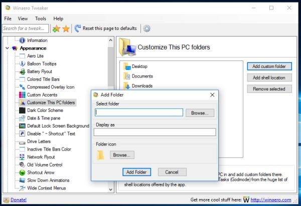 Windows 10 this pc add custom folder